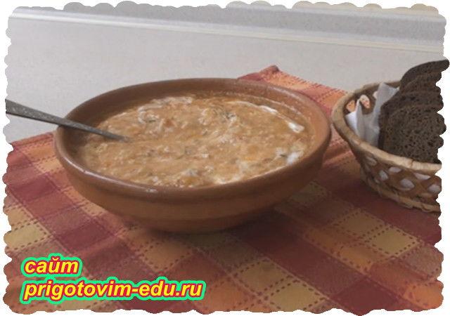Суп Капустняк с квашеной капустой и пшеном