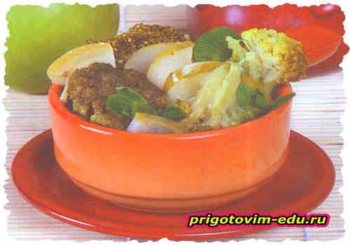 Закуска из брокколи с яблоками