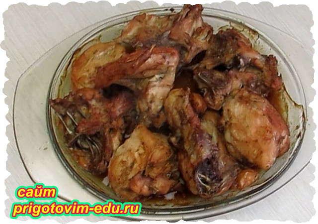 Запеченная курица с медом
