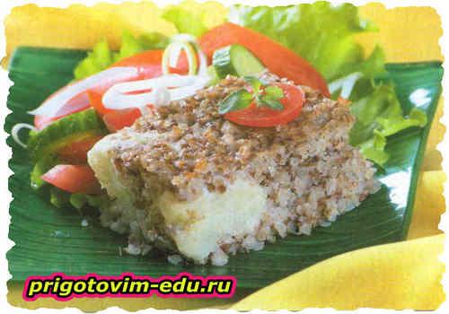Запеканка из гречки и цветной капусты