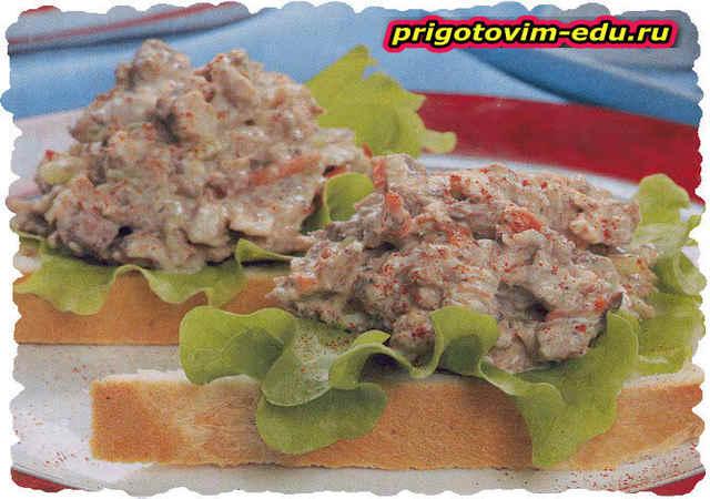 Салат-паштет с тофу и тунцом