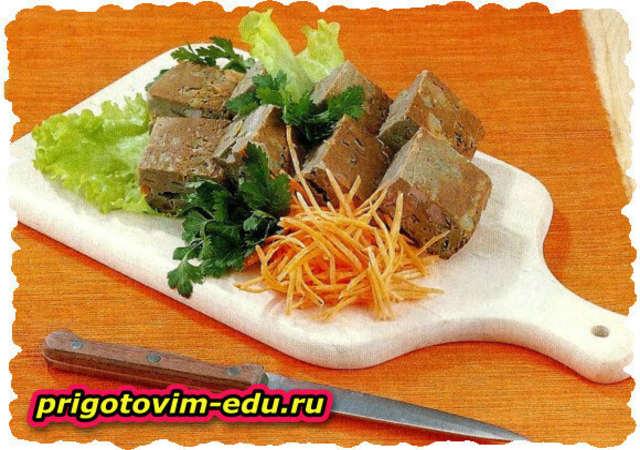 Террин из печени со свининой и морковью