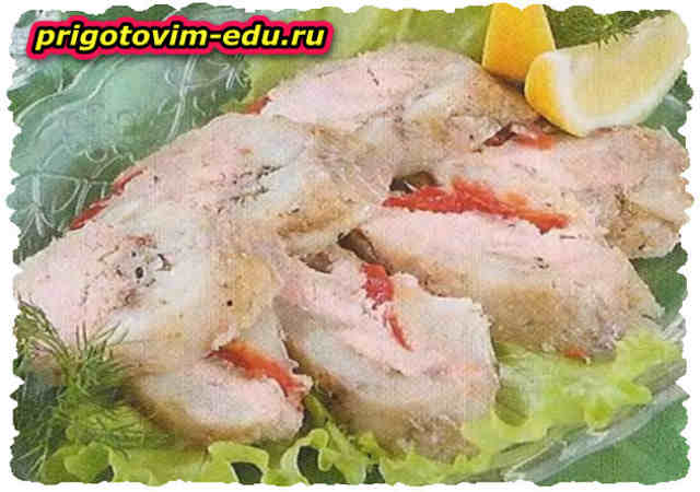 Заливная рыба с болгарским перцем
