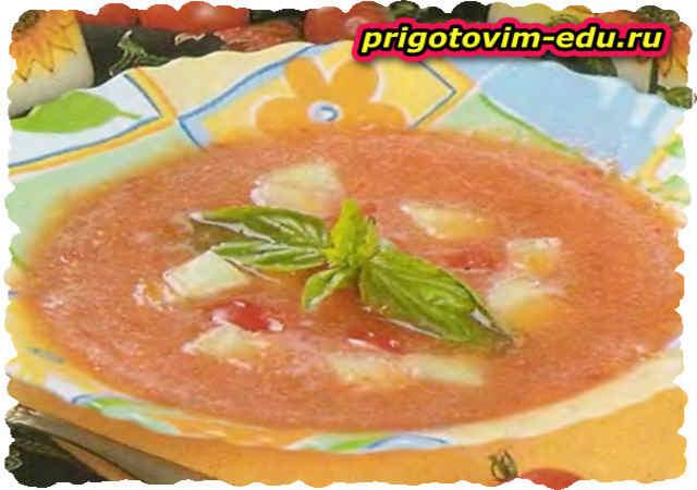 Холодный арбузный крем-суп