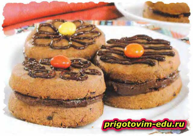 Кофейное печенье со сливочным кремом