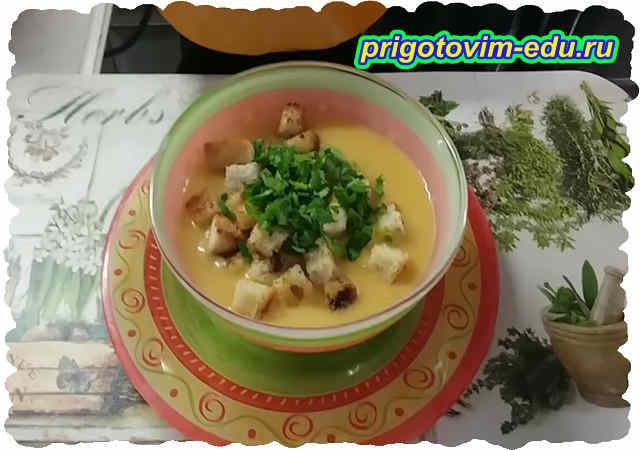 Крем-суп из белокочанной капусты