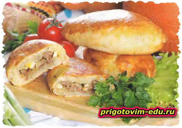 Пирожки с мясом и яйцом
