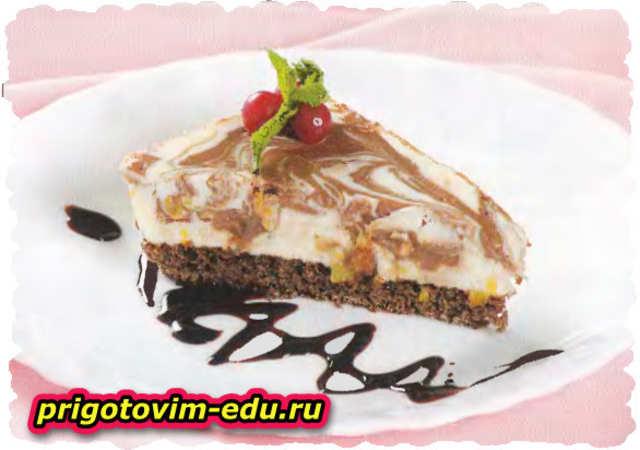 Пирожные из бисквитного теста с шоколадом