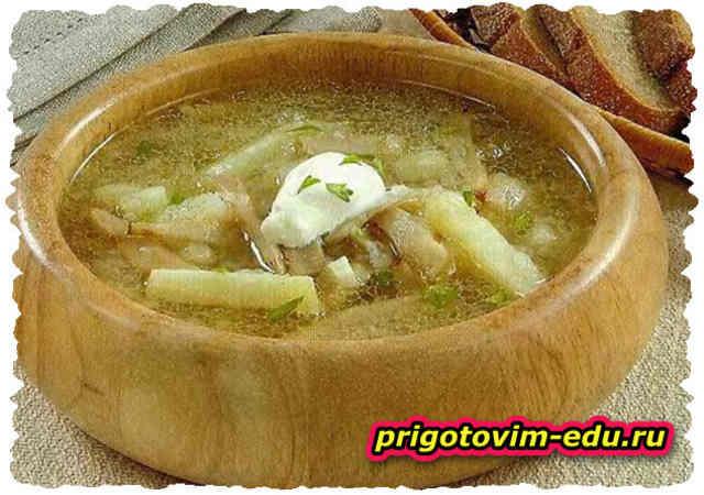 Суп из груздей. Груздянка