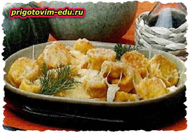Тыквенные орешки, запеченные с сыром