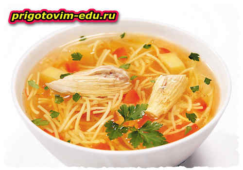 Аришта апур - куриный суп с лапшой