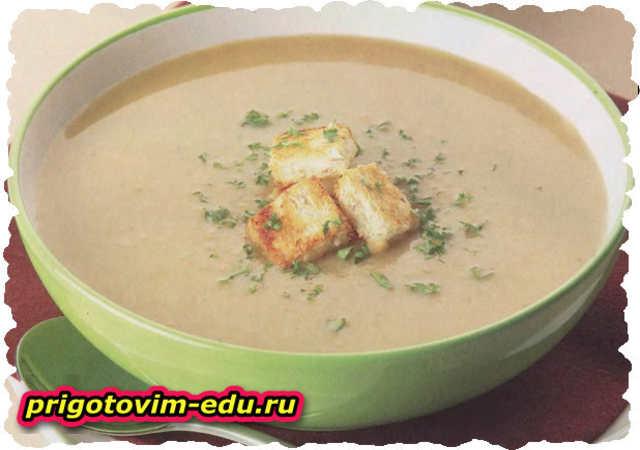 Грибной суп на белом вине