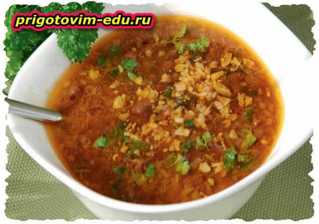 Лобахашу - суп из красной фасоли