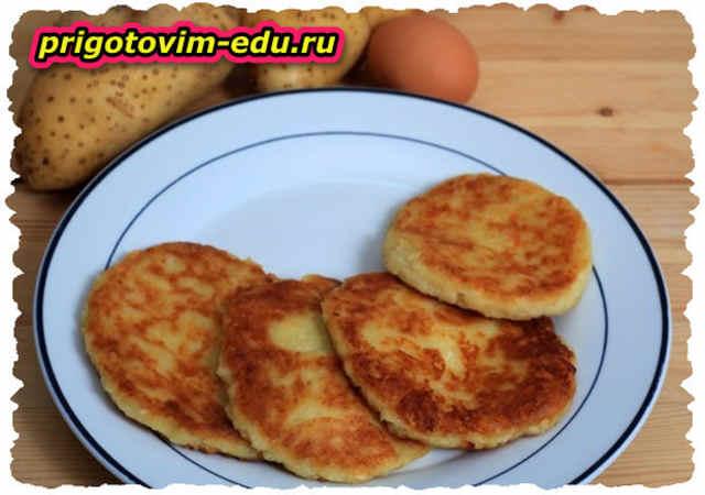 Оладьи из творога с картофелем