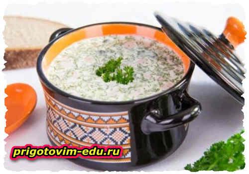 Овдух (кисломолочный суп с зеленью)