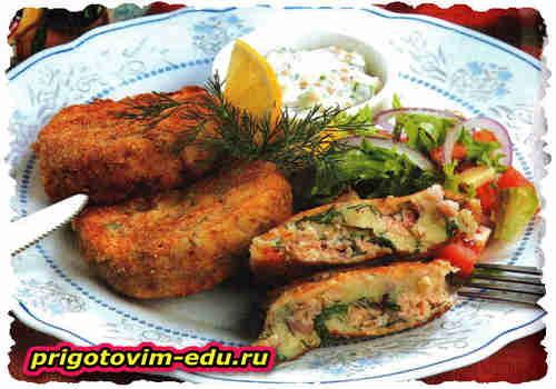 Рыбно-картофельные котлетки