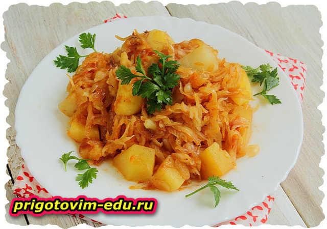 Салат из картофеля и квашеной капусты