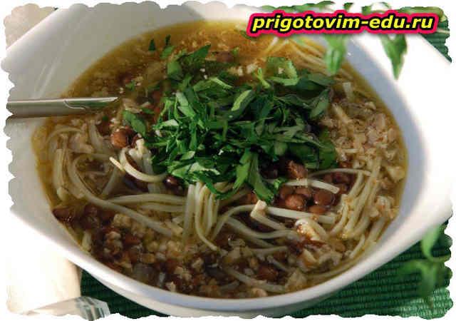 Суп Воспапур с лапшой. Армянская кухня