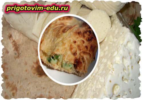 Сыр, запеченный в лаваше