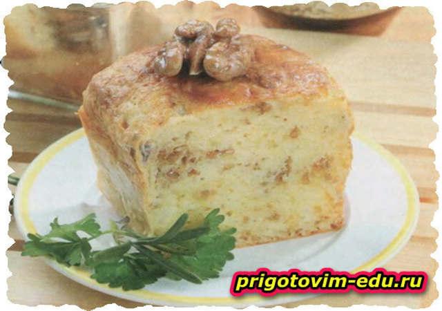 Сырная запеканка с грецкими орехами