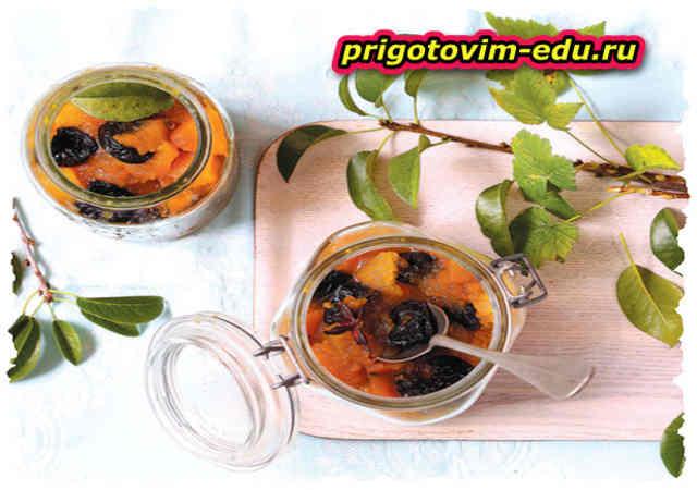 Варенье из тыквы с черносливом
