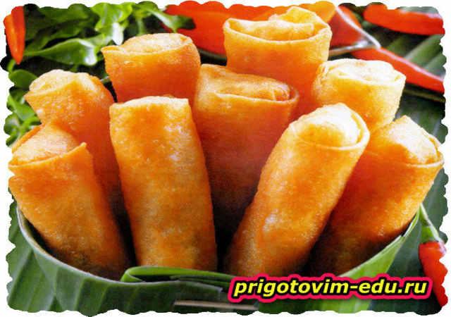 Вьетнамские рулетики с лапшой и овощами