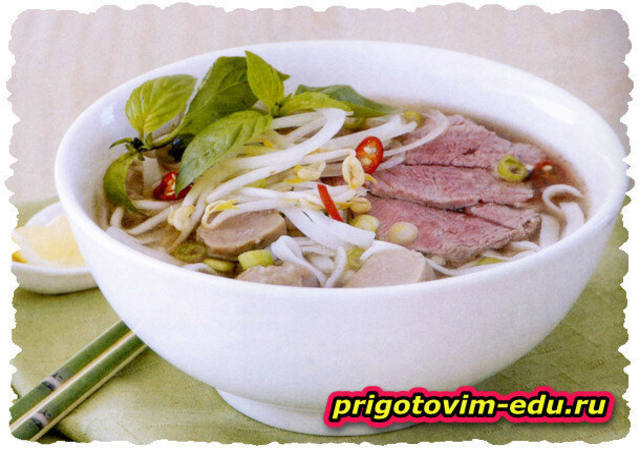 Вьетнамский суп Фо с говядиной