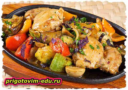 Цыплята, тушенные с овощами «Шарови» (Армянская кухня)