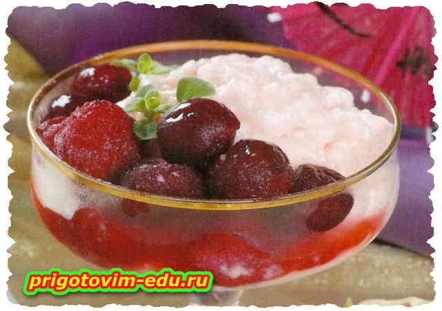 Крем ягодно-молочный в микроволновке