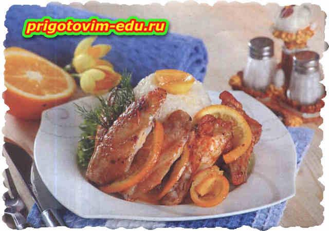 Крылышки в медово - апельсиновом соусе