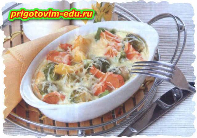 Овощная запеканка под сыром