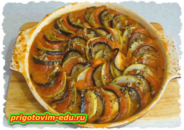 Рататуй - овощи запеченные по-французски