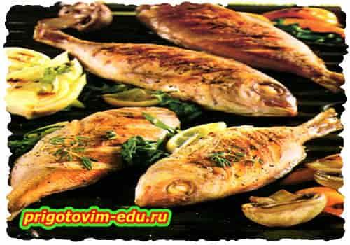 Рыба, фаршированная рукколой