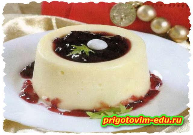 Суфле из белого шоколада в СВЧ-печи