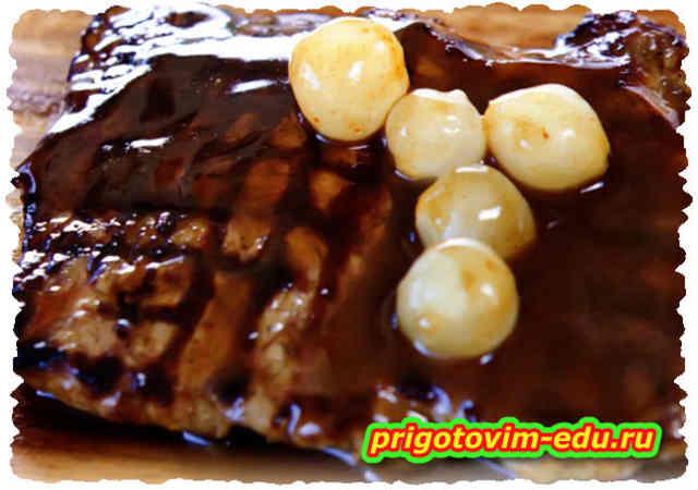 Телятина на гриле в шоколадном соусе