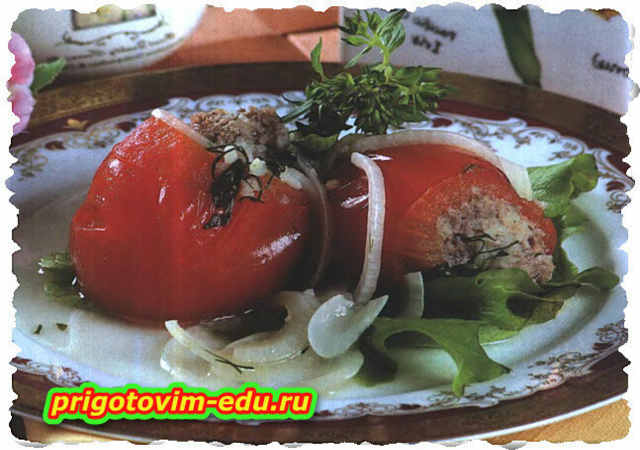Толма из помидоров с грибами