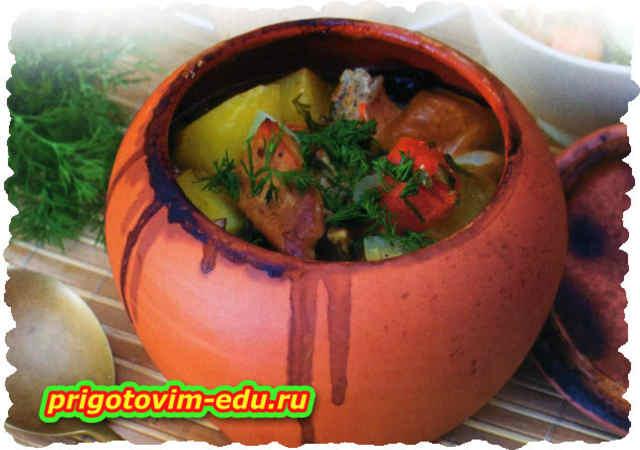 Говядина запеченная с овощами в духовке