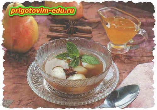 Холодный суп из груши с мёдом
