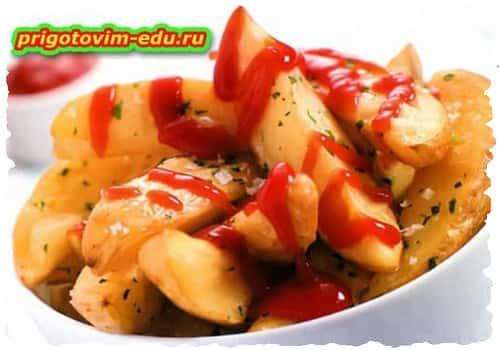 Картофель с петрушкой и медом