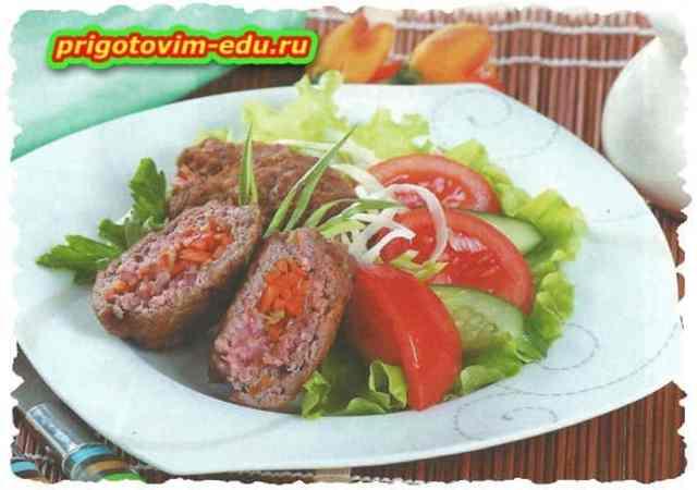 Мясные рулеты с корейской морковью