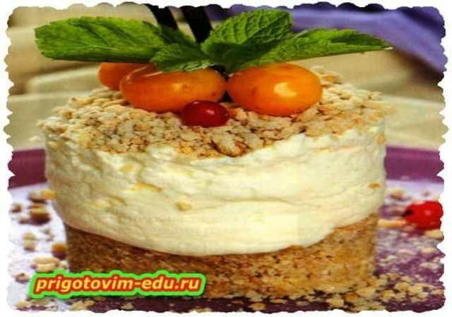 Пирожное из пряников с сырным кремом