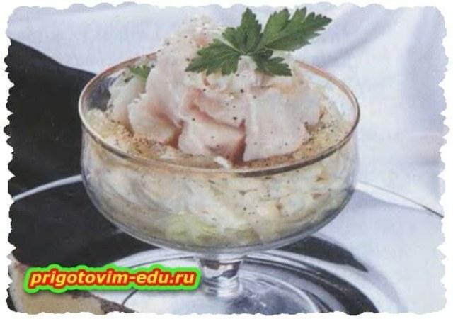 Салат с рыбой и сыром «Вечеринка»