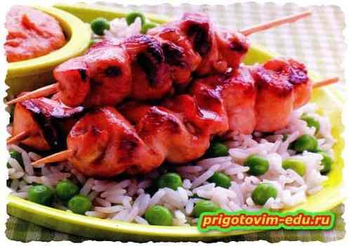 Сатей из курицы (тайский шашлык)