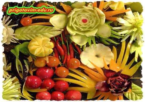 Карвинг- Искусство фигурной резки по фруктам и овощам 1