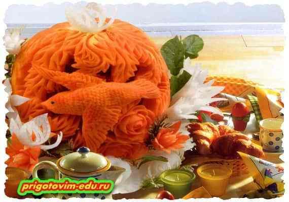 Карвинг- Искусство фигурной резки по фруктам и овощам 2
