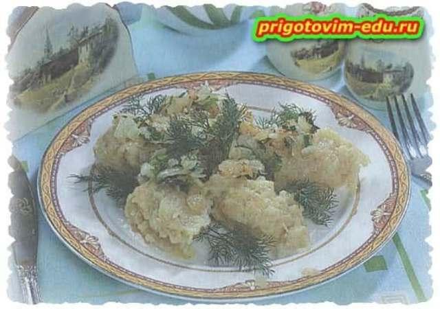 Клецки из картошки с ячневой кашей
