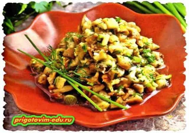 Салат из жареных баклажанов с зеленью по-армянски