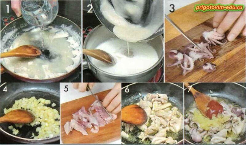 Рецепт осьминога тушеного по-дальневосточному