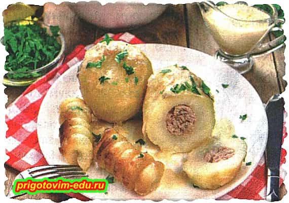 Картофель фаршированный рецепт для мультиварки