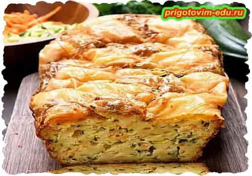 Пирог «Мозаика» с цукини